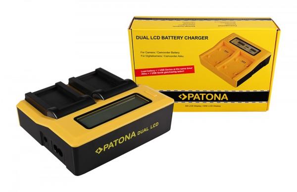 PATONA Dual LCD USB Chargeur pour Konica Minolta Minolta NP-200 Dimage X Xg Xi Xt Xt Biz