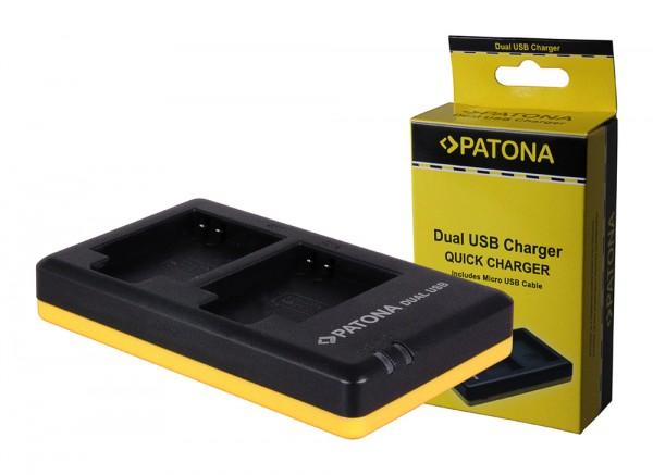 PATONA Dual Quick-Charger f.Canon NB-6L, NB6L incl. Micro-USB cabel