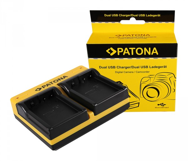 PATONA Dual LCD USB Chargeur pour Panasonic Panasonic DMW-BLD10 Lumix DMCGF2 DMC-GF2