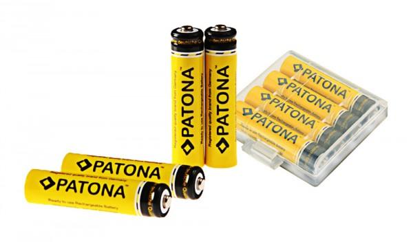 PATONA Micro Batteries: 4x Akku AAA MICRO LR3 PATONA 900mAh inkl Box