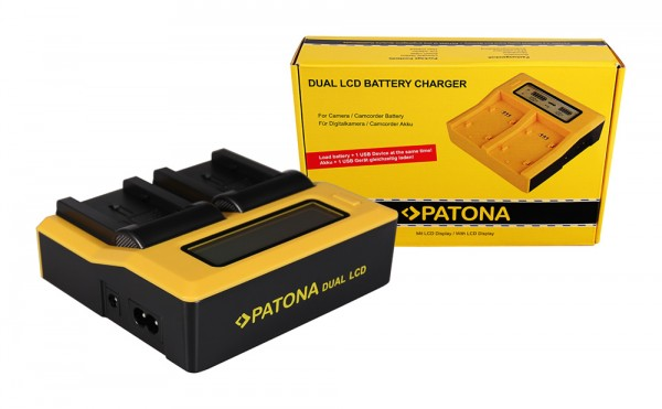 PATONA Dual LCD USB Ladegerät f. Canon BP808 BP-808 BP819 BP-819 BP820 BP-820