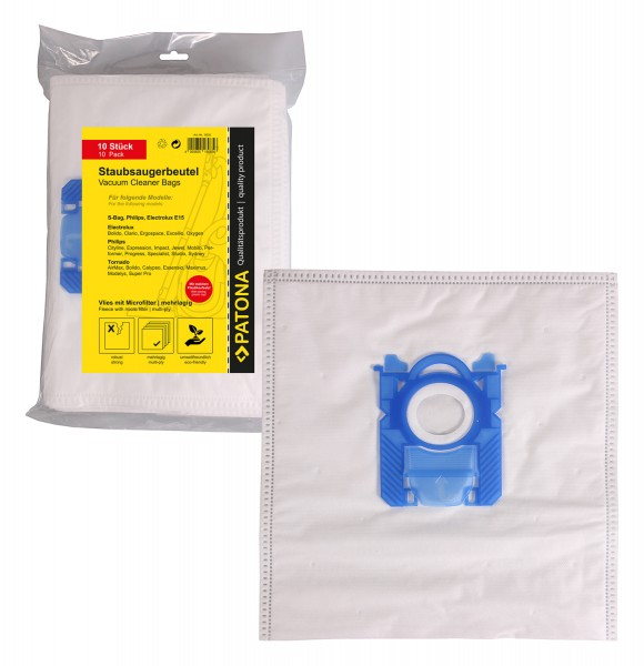 PATONA 10 Staubsaugerbeutel mehrlagig Vlies inkl. Microfilter f. Electrolux E15