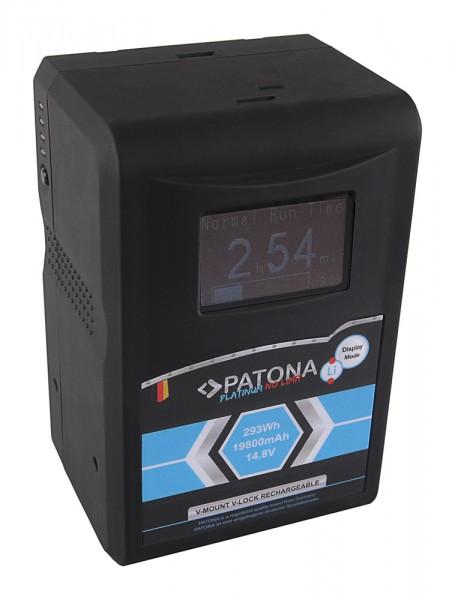 PATONA Platinum LCD Akku RED ARRI V-Mount 293Wh f. Sony DSR 250P 600P 650P 652P HDW 800P PDW 850 BP-