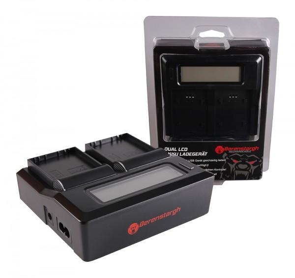 Berenstargh Dual LCD USB Ladegerät f. Olympus BLH-1 OM-D EM-1 Mark 2 EM-1 Mark II BLH-1 OM-D
