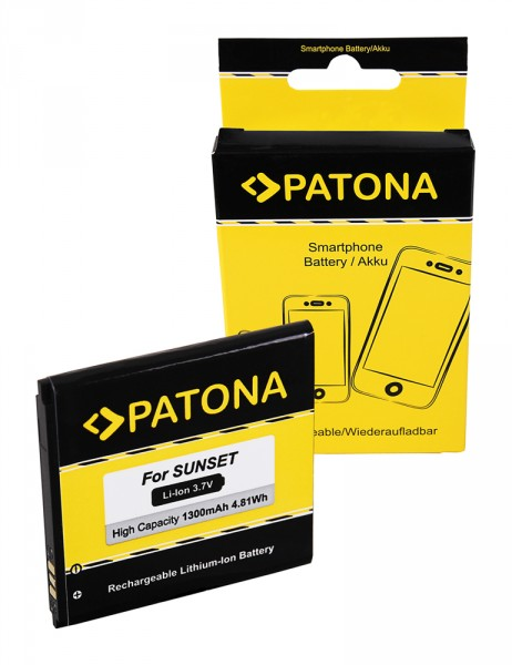 PATONA Battery f. Wiko Sunset, Sunset 2, Goa, S104-K42000-014