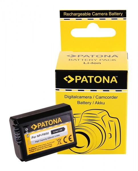 PATONA Battery f. Sony NP-FW50 NEX.3 NEX.3C NEX.5 NEX.5A