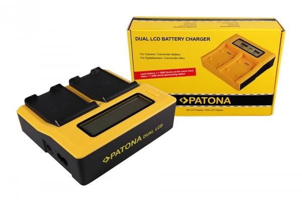 PATONA Dual LCD USB Ladegerät f. Samsung EB-F1A2GBU I519 I569 I579 I8150 i8150 W i9050 i9100