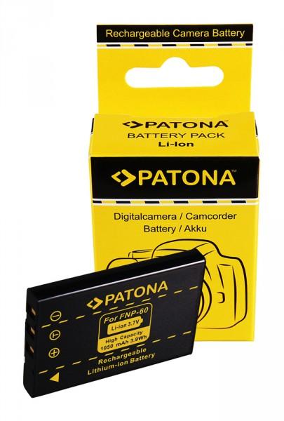PATONA Batterie pour Aito NP-60 23002 NP-60 NP-60 Casio NP-60 QV QVR3 QV-R3 QVR4