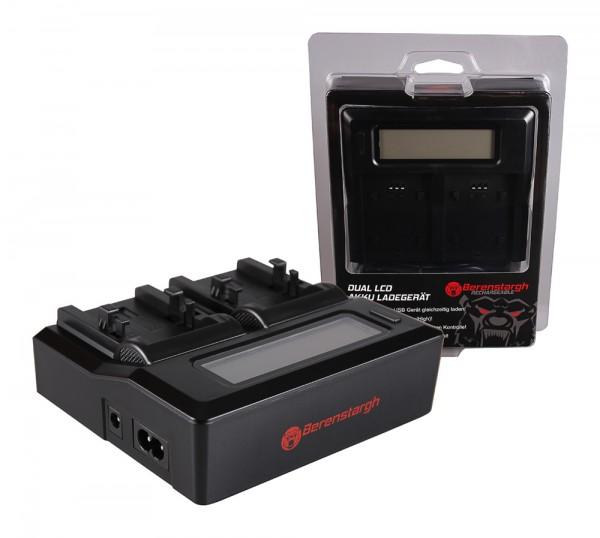 Berenstargh Dual LCD USB Ladegerät f. Canon NB-1LH NP-600 Digital ELPH ELPH NB-1LH NP-600 Digital