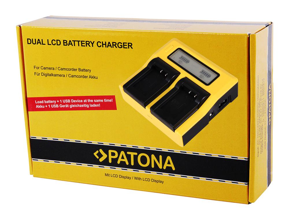 Patona dual LCD USB cargador F canon lp-e17 eos 750d 760d 8000d Kiss x8i Rebel