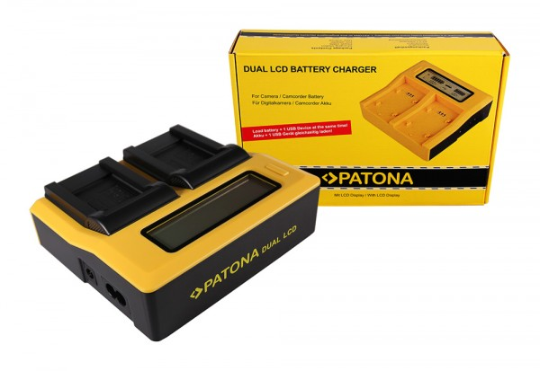 PATONA Dual LCD USB Ladegerät f. Kodak Olympus Li-40B Klic 7006 Olympus Li-40B Olympus Li-40B