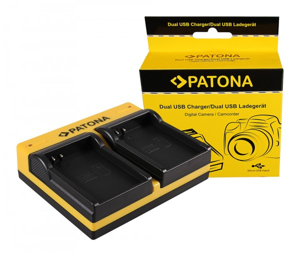 PATONA Dual Ladegerät f. Drift Drift CFXDC02 HD Ghost inkl. Micro-USB Kabel