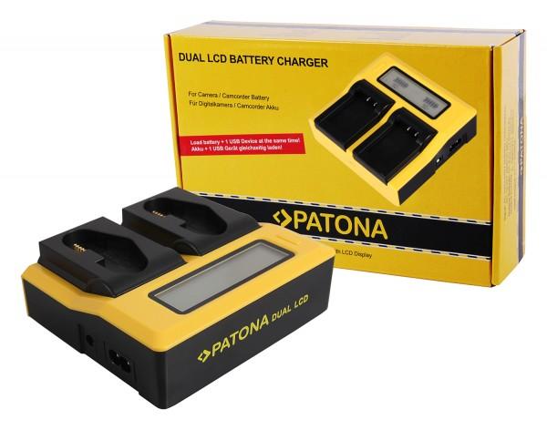 PATONA Dual LCD USB Charger f. Canon LP-E4 LP-E19 EOS 1D 1DS Mark III 1D Mark IV 1DX Mark II