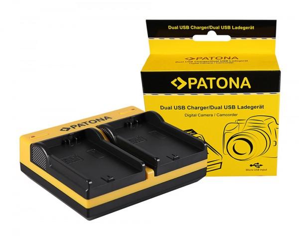 PATONA Dual LCD USB Chargeur pour Canon Canon BP-308 Elura 100 DC10 DC100 DC20 DC21 DC210 DC220