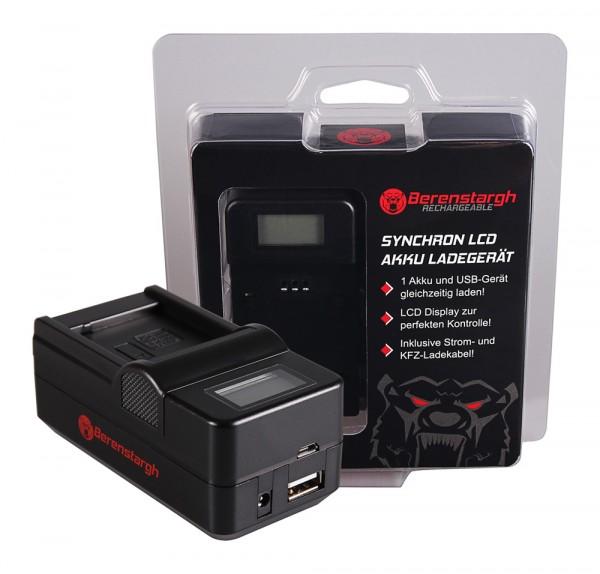 BERENSTARGH Synchron USB Charger f. Panasonic DMW-BLE9E BHL7E Lumix DMCGF3 DMC-GF3 DMCGF3CK