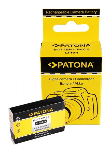 PATONA Batterie pour Fujifilm NP-95 Finepix F30 F-30 F31 F-31 F31fd F-31fd X100