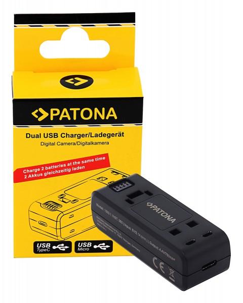 PATONA Dual USB Ladegerät für Insta360 ONE R INST100-04