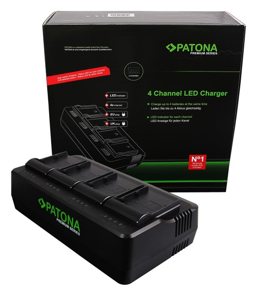 PATONA Premium 4-fold Charger for Canon BP-A30 BP-A60 BP-A65 BP-A90 EOS C200 C200B C300 Mark II XF705
