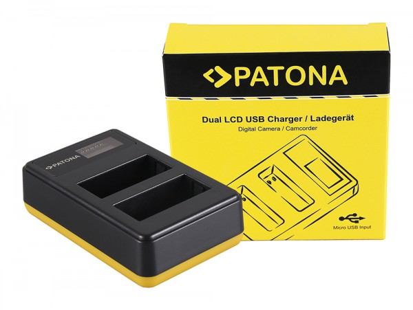 PATONA Dual LCD USB Charger for Fujifilm Fuji NP-W126 FinePix HS30 EXR HS30EXR HS-30EXR HS33