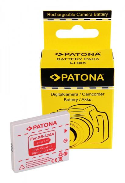 PATONA Batterie pour Sanyo DB-L20 Xacti DMXC1 DMX-C1 DMXCA65 DMX-CA65 DSCC4 DSC-C4