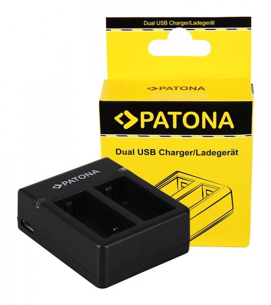 PATONA GoPro Hero 3 AHDBT-301 USB Dual Charger inkl. Micro-USB cabel