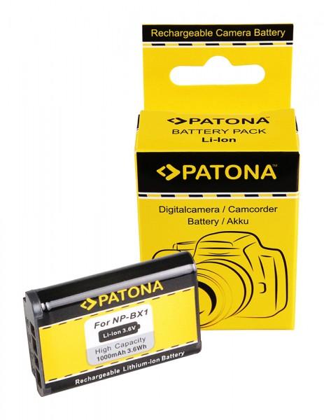 PATONA Akku für Sony NP-BX1 NPBX1 DSC-RX100 DSC RX100 Sony BX1