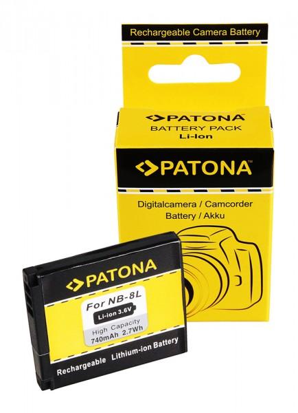 PATONA Akku f. Canon NB-8L Canon Powershot A2200 A3000 IS A3000IS