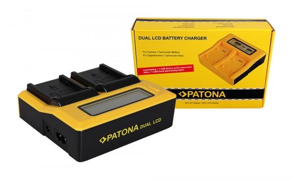 PATONA Dual LCD USB Charger for Panasonic DU14 VBG130K 260K VBG6