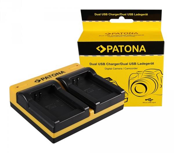 PATONA Dual Ladegerät f. Oregon ICP103446 Scientific ATC9K inkl. Micro-USB Kabel