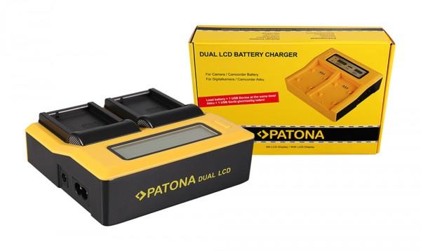 PATONA Dual LCD USB Ladegerät f. Panasonic BLC12 BLC12PP DMWBLC12 E DMW-BLC12 E
