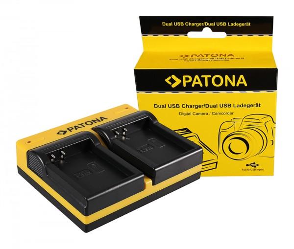 PATONA Dual Ladegerät f. Nikon EN-EL23 Coolpix p600 inkl. Micro-USB Kabel