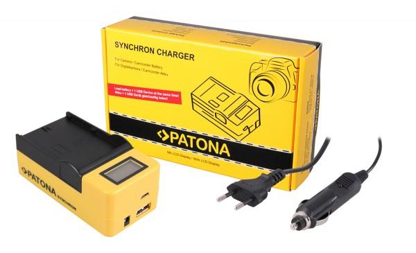 PATONA Synchron USB Ladegerät f. JVC SSL-75 SSL-JVC50 SSL-JVC75 HM600 HM650 mit LCD-Display