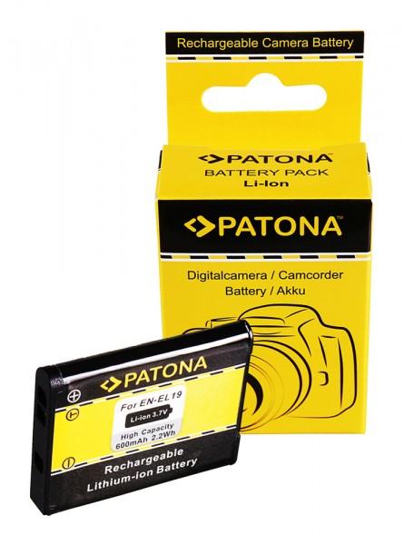 PATONA Akku f. Nikon CoolPix S4100 S3100 S2500 EN-EL19 ENEL19