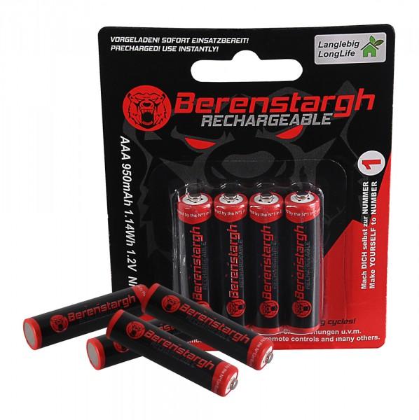 Berenstargh Micro Akkus 4x Akku AAA MICRO LR3 950mAh inkl. Box
