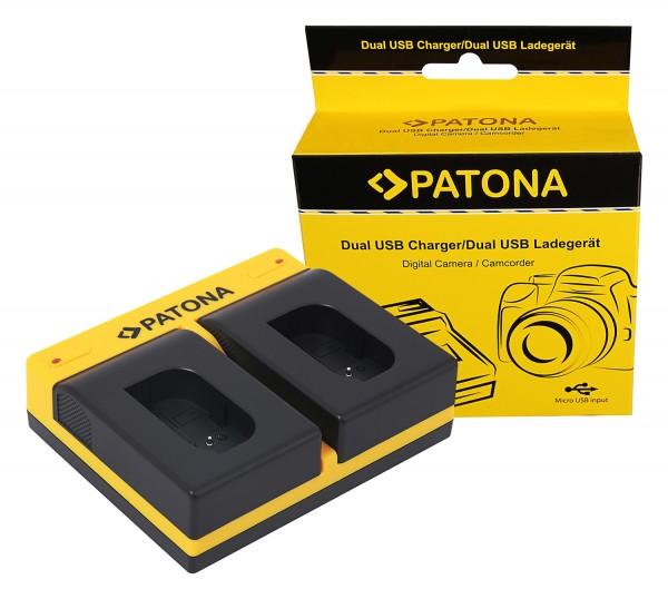 PATONA Dual Charger f. Panasonic DMW-BLK22 DC-S5 G9 GH5 GH5S