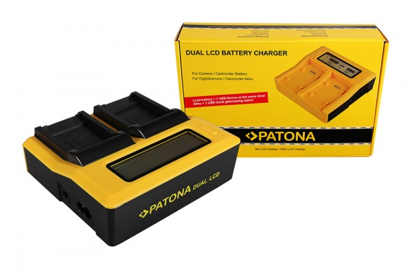 PATONA Dual LCD USB Chargeur pour Canon Canon NB-8L Powershot A2200 A3000 IS A3000IS A3100 IS