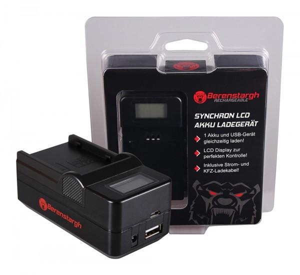 BERENSTARGH Dual LCD USB Chargeur pour Canon Canon BP 915 BP 945 CGA DU14 BP 930G EOS C300 C300 PL
