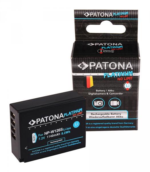 PATONA Platinum Akku f. Fuji X-T3, VPB-XT3 NP-W126S HS33 EXR Fujifilm Finepix -Pro 1 HS30
