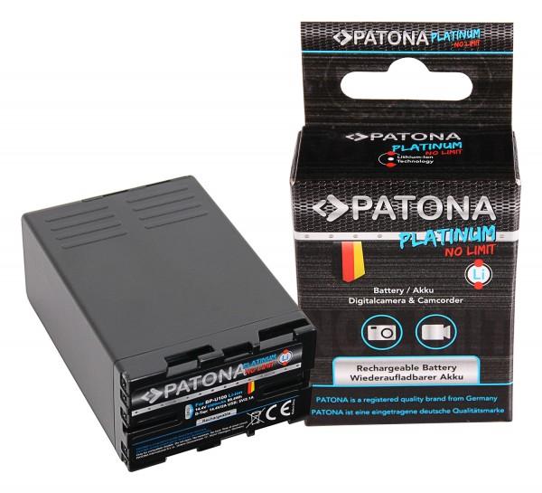 PATONA Platinum Akku BP-U100 für Sony PMW-EX1 EX3 F3 F3K F3L FX5 FX7 FX9 PMW-150 mit 2x D-TAP