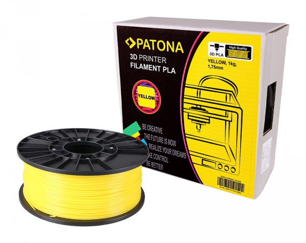 PATONA 1.75mm yellow PLA 3D printer Filament