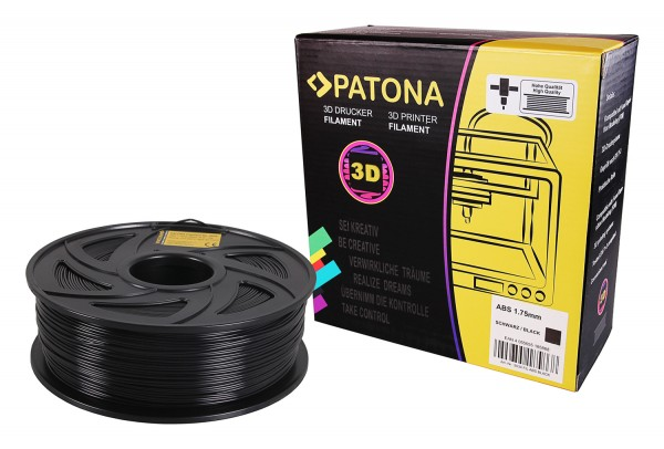 PATONA 1.75mm black ABS 3D printer Filament