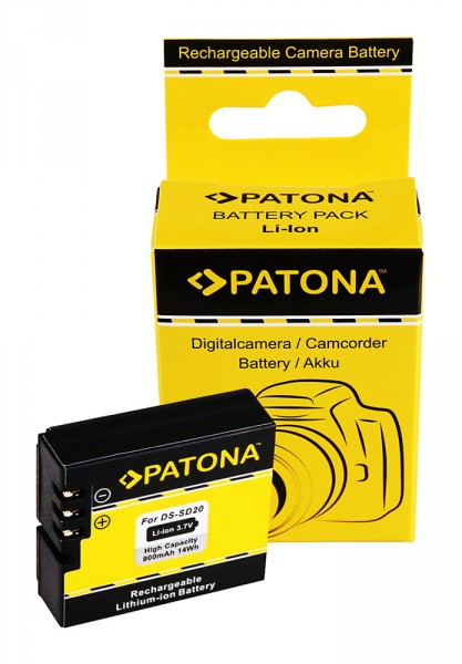 PATONA Battery f. Rollei Bullet 3s 4s 5s DS-SD20 Astak CM-7200 HD Star 60