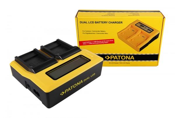 PATONA Dual LCD USB Chargeur pour Sanyo Sanyo DB-L40A L20A Xacti DMXC1 DMX-C1 DMXCA65 DMX-CA65