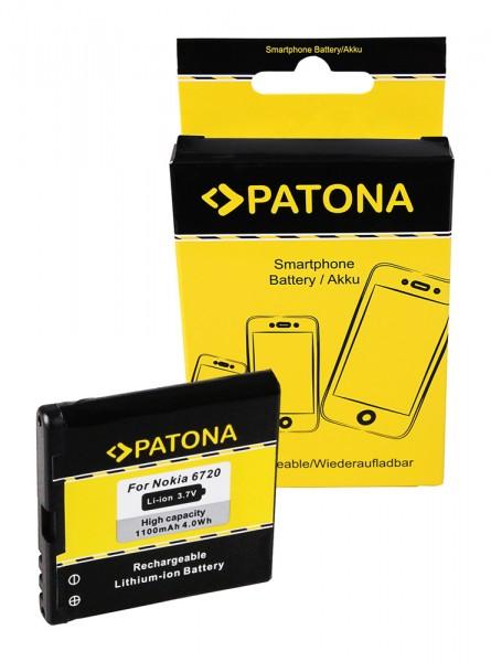 PATONA Akku f. Nokia BP-6MT E51 Nokia N81 N81-8GB N82 6720 classic