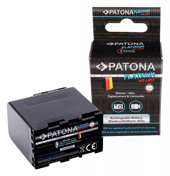 PATONA Platinum Akku BP-U50 für Sony PMW-EX1 EX3 F3 F3K F3L FX5 FX7 FX9 PMW-150 inkl. USB und D-Tap
