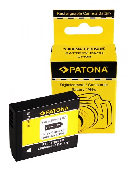 PATONA Akku f. Panasonic DMC-GM1 DMW-BLH7E GM1 BLH7E