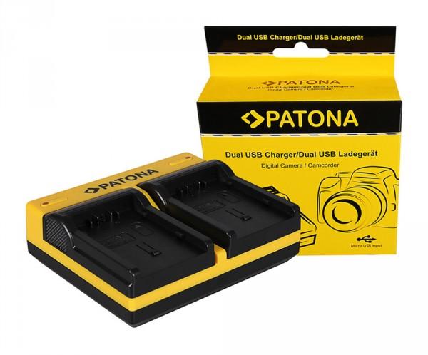 PATONA Dual LCD USB Chargeur pour Hitachi Panasonic CGA-DU14 VBG130K 260K VBG6 Xacti DZMV350A