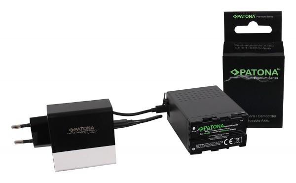 PATONA Premium Battery f. Sony BP-U68 BP-U65 BP-U60 6900mAh inkl. D-Tap und USB-ports with additional PD-Charger USB-C/USB