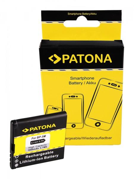 PATONA Akku f. Nokia BP-5M 100 5610 5700 6110NAV 6220 6500s 6500