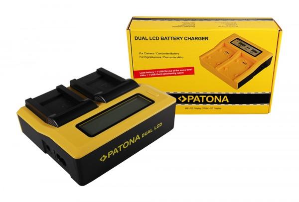 PATONA Dual LCD USB Chargeur pour Pentax Pentax D-LI88 Optio H90 P70 P80 W90 WS80 Pentax D-LI88